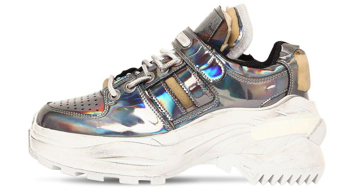 low priced e9d06 ac55e Maison Margiela 60mm Retrofit Iridescent Sneakers - Lyst