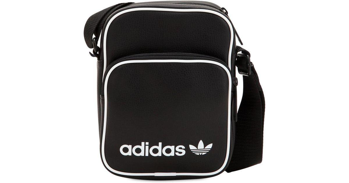 762bcf603abd adidas Originals Mini Faux Leather Bag in Black for Men - Lyst
