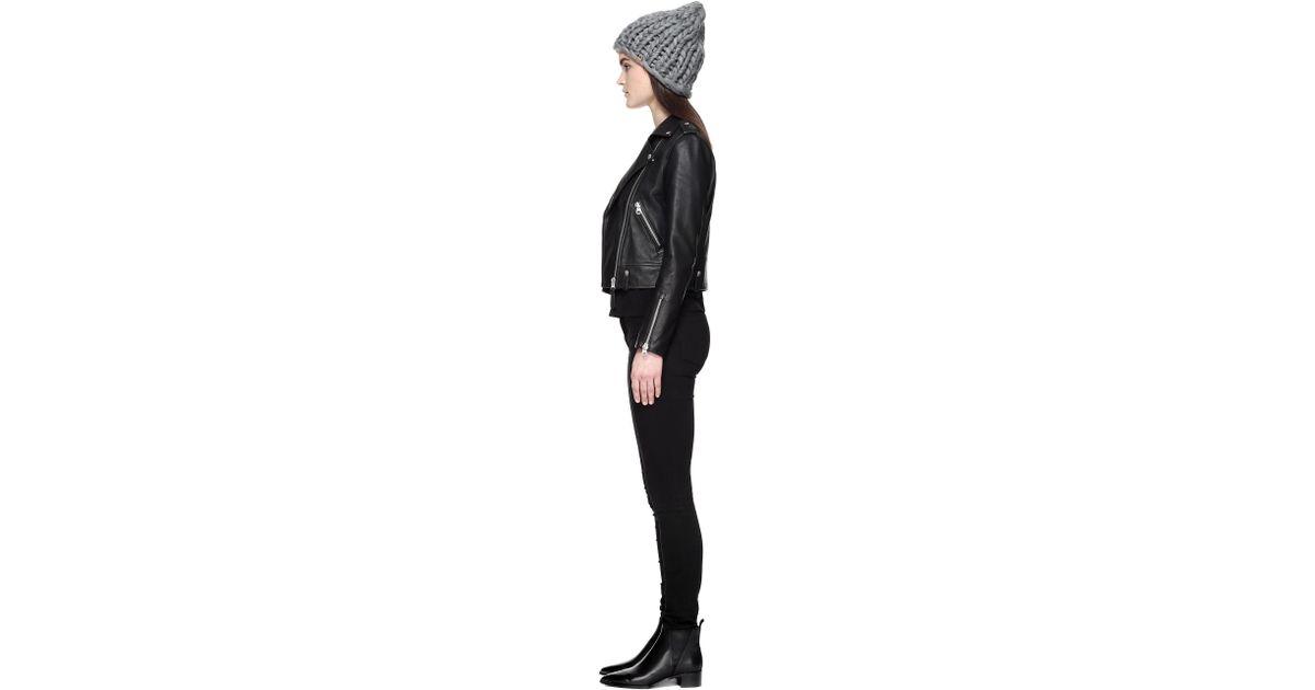 c2f9ef6b91a Lyst - Mackage Karol Slouch Style Chunky Knit Hat For Women In Grey in Gray