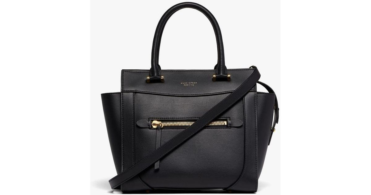 0b118665ae64 Lyst - Mackintosh Black Leather Small Boston Bag Acc-002 in Black