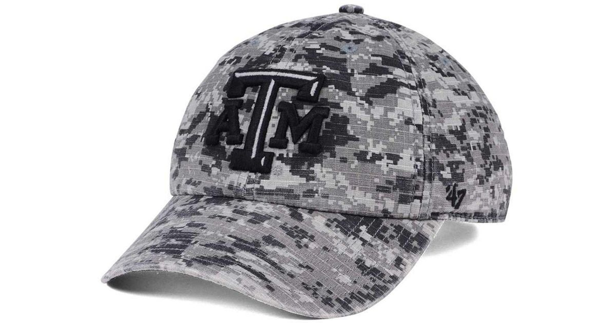 super popular 4dca8 373fc Lyst - 47 Brand Texas A m Aggies Operation Hat Trick Camo Nilan Cap in Gray  for Men