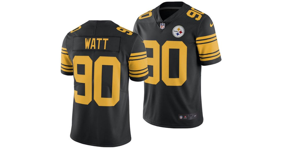 191256d9e Nike T.j. Watt Pittsburgh Steelers Limited Color Rush Jersey in Black for  Men - Lyst
