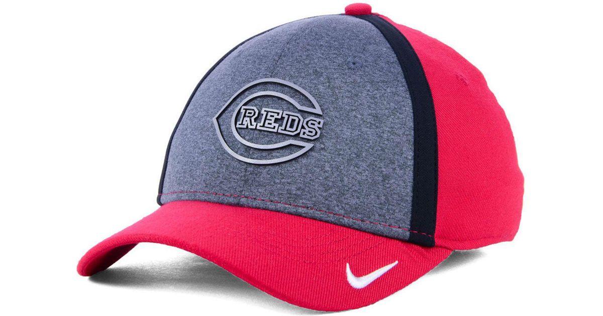 pretty nice d8700 697f4 ... new era cap air 97749 5a556  coupon for lyst nike cincinnati reds team  color reflective swooshflex cap in red for men 396bd