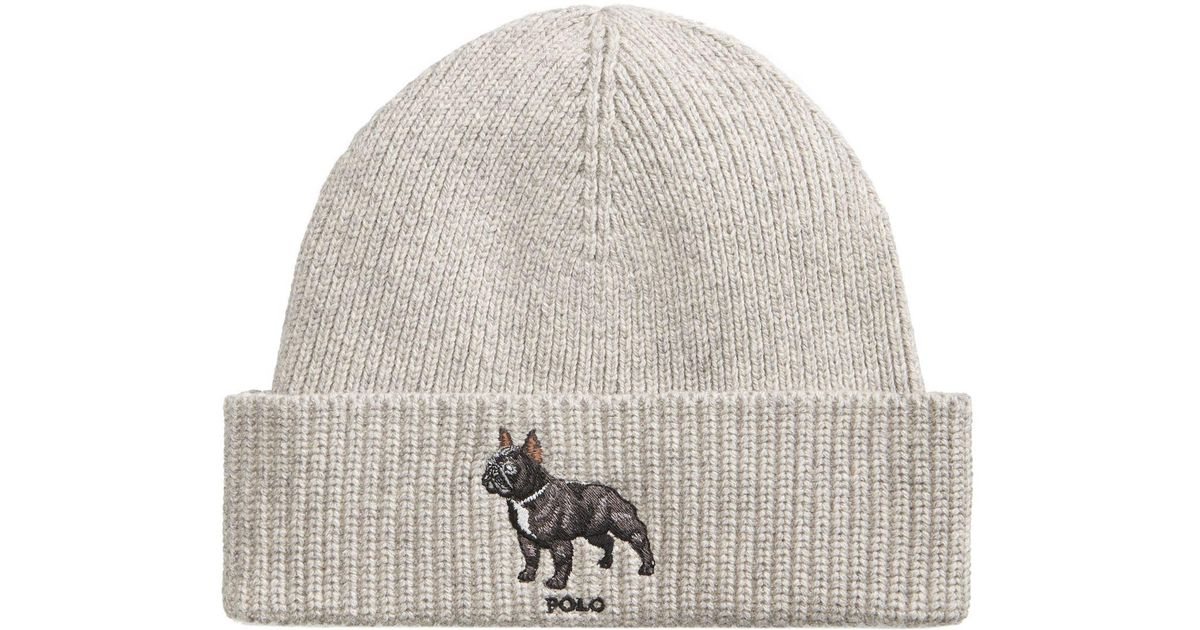 Lyst Polo Ralph Lauren Men S French Bull Dog Hat In Gray For Men