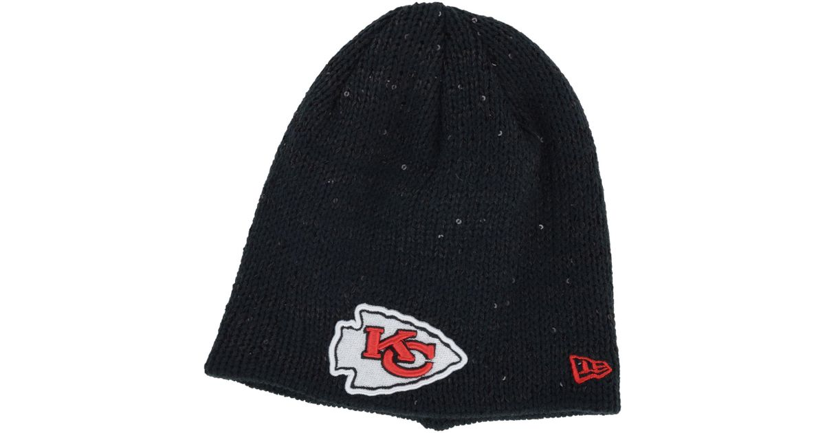 Lyst - Ktz Women s Kansas City Chiefs Glistener Knit Hat in Gray cfc0526e5fe2