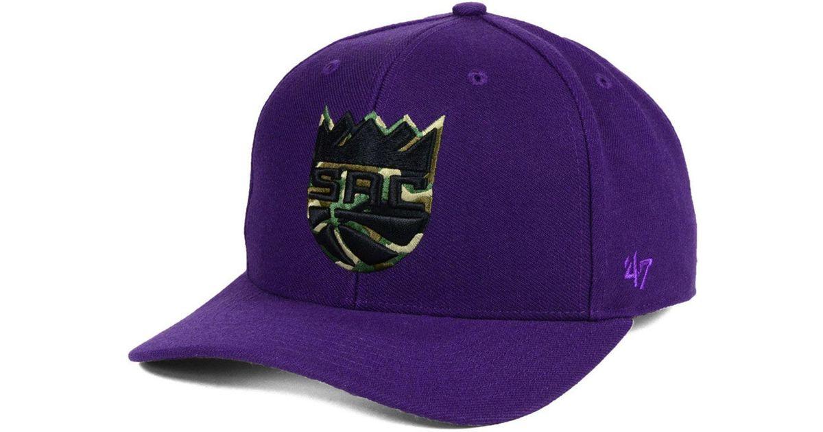 purchase cheap 2ad83 f776f ... hot lyst 47 brand sacramento kings camfill mvp cap in purple for men  11728 1eeec
