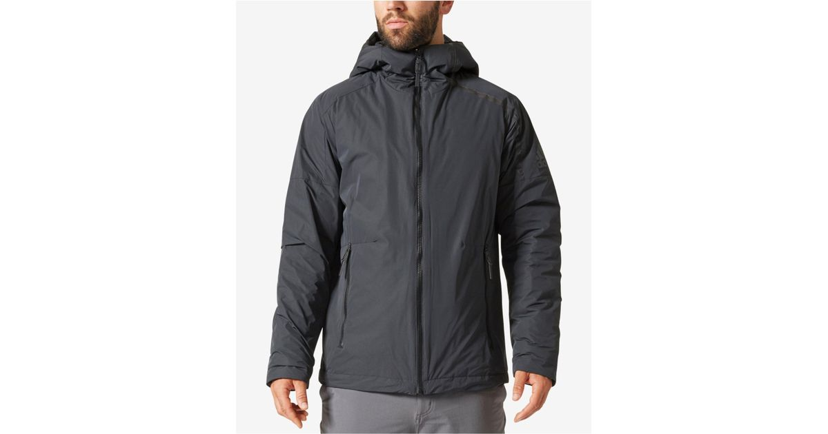 7e13041a0f4d Lyst - adidas Men s Zne Down Jacket in Black for Men