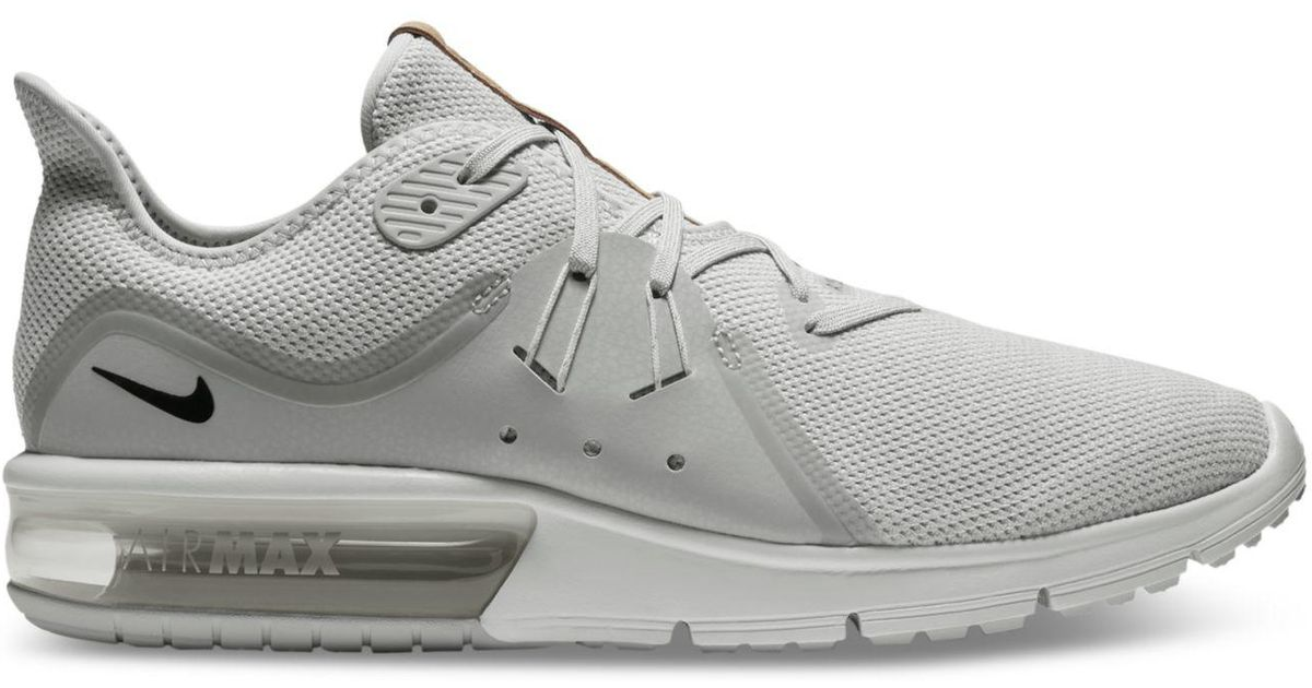 on sale 699c9 f1551 Lyst - Nike Men s Air Max Sequent 3 Running Sneakers From Finish Line for  Men