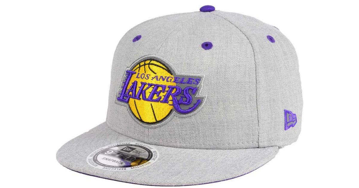 huge discount d862b fe82b Lyst - KTZ Los Angeles Lakers Total Reflective 9fifty Snapback Cap for Men