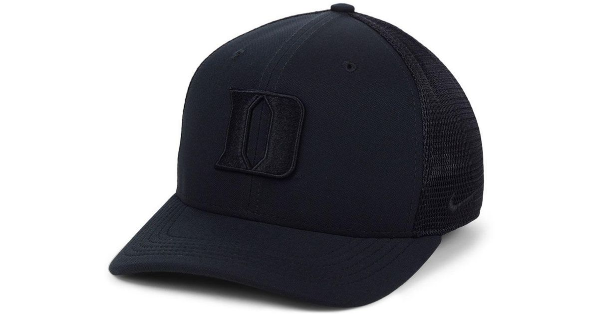 dcd5daaa140f6 ... promo code for lyst nike duke blue devils aerobill black swoosh cap in  black for men