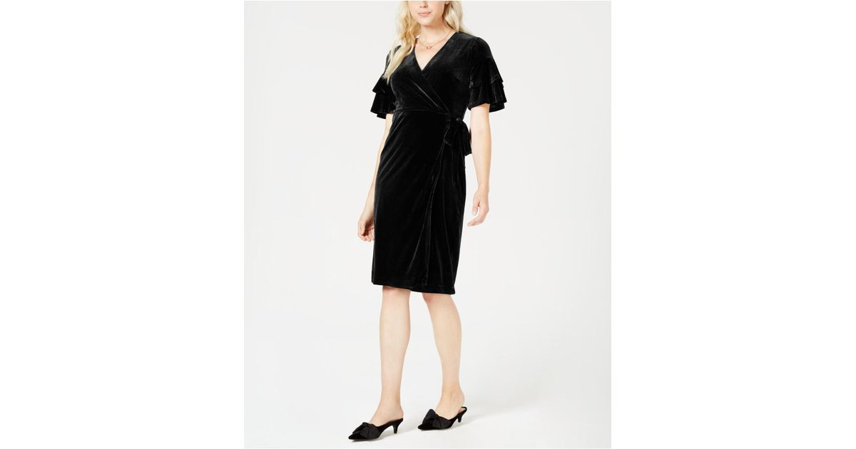 ee9996d62183 Lyst - Maison Jules Velvet Wrap Dress