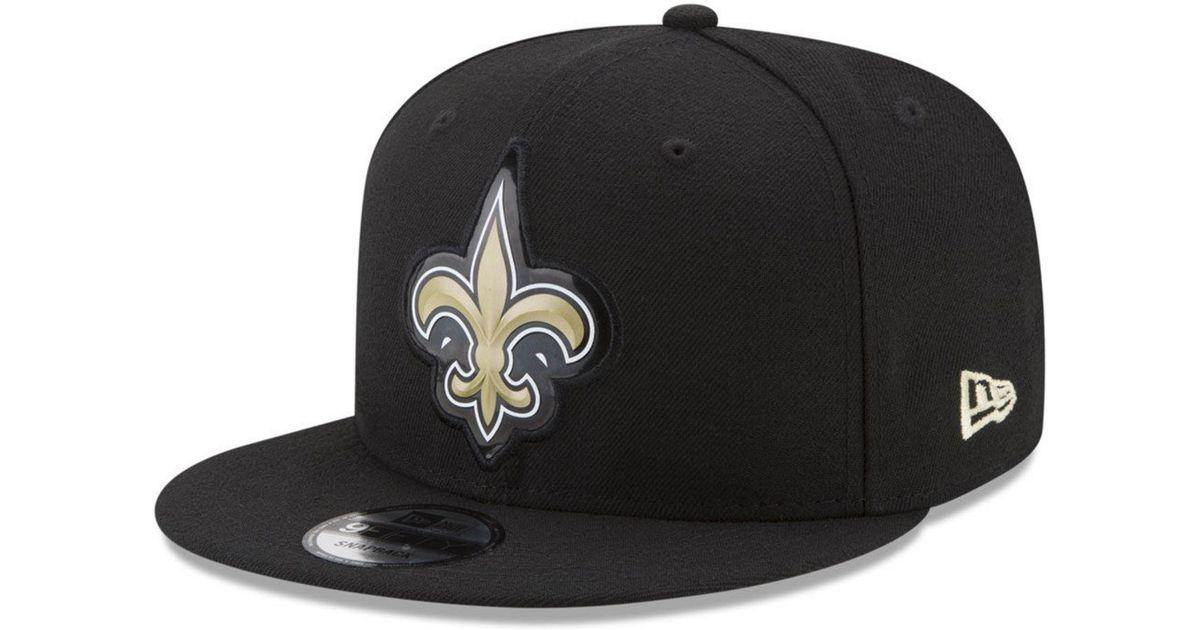 7b201e7d9f2 Lyst - Ktz New Orleans Saints Bold Bevel 9fifty Snapback Cap in Black for  Men