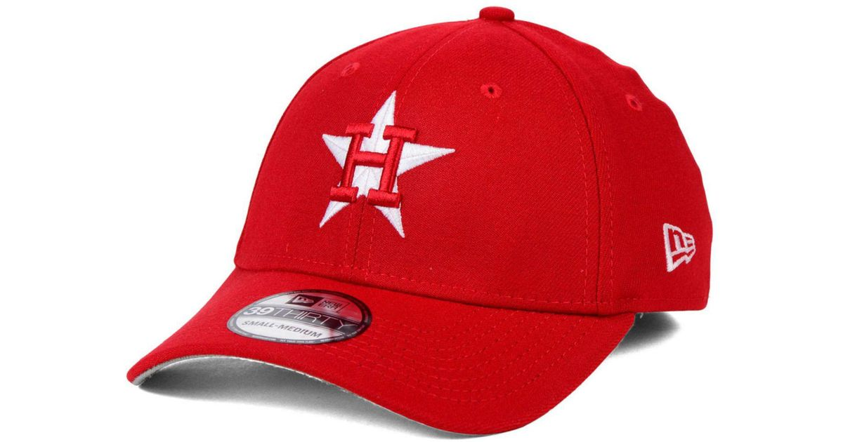 competitive price f3f59 fd81a ... coupon for lyst ktz houston astros fashion 39thirty cap in red for men  cf862 03b51