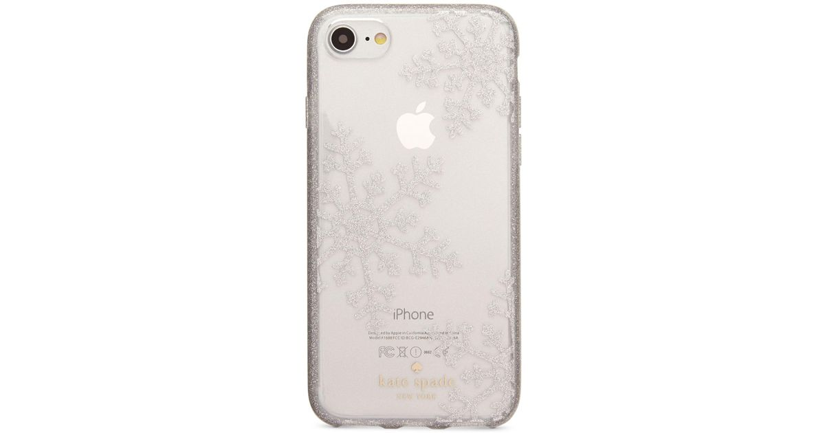 Kate Spade Glitter Snowflakes Iphone 8 Case