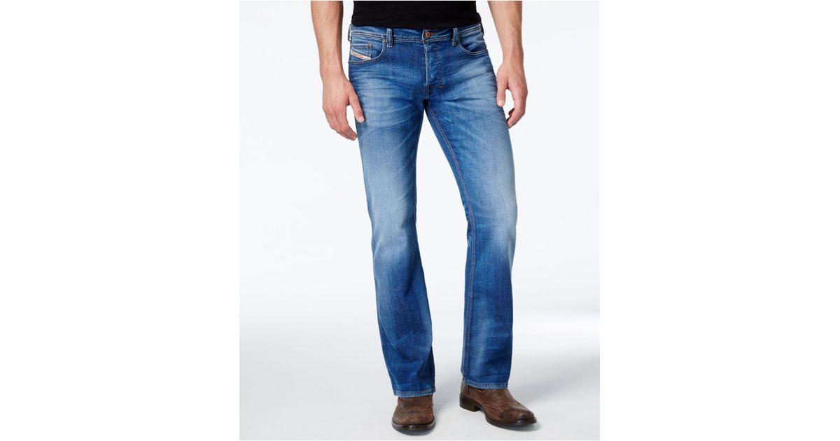3ef319b7d19 DIESEL Men's Zathan 0831d Bootcut Jean in Blue for Men - Lyst