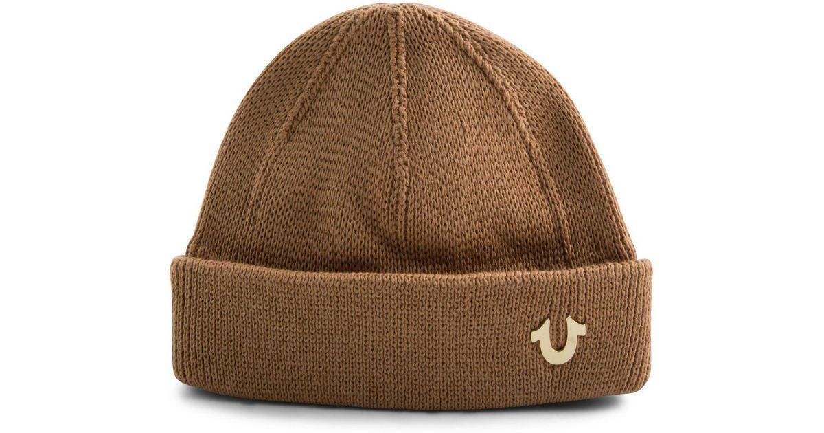 cad6a1db78337 Lyst - True Religion Indigo-dyed Watchcap in Brown for Men