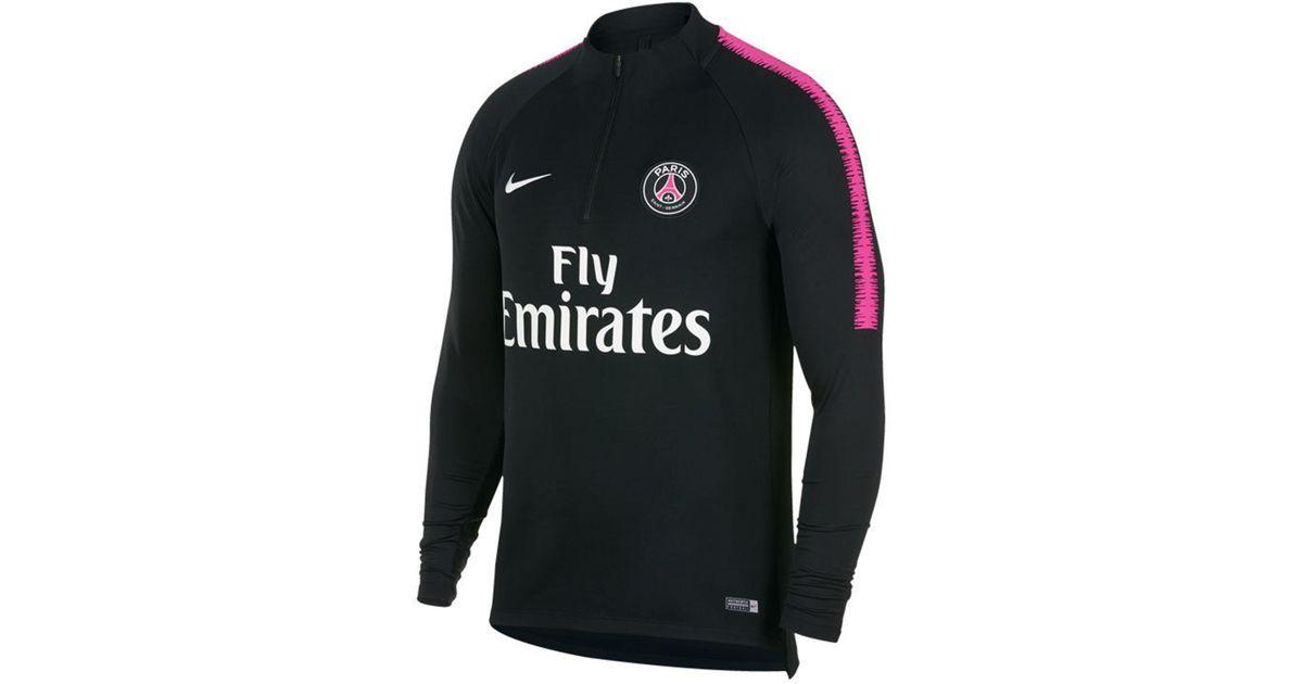 4427b9125e2e Nike Paris Saint-germain Club Team Dry Squad Drill Top in Black for Men -  Lyst