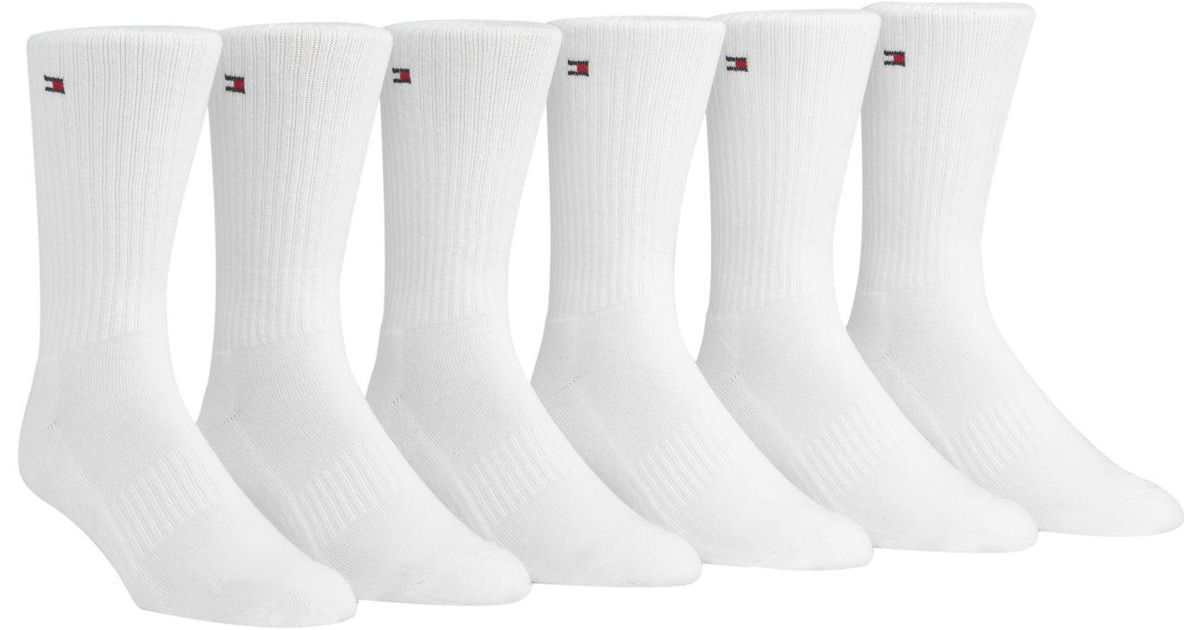8e6ba8251 Tommy Hilfiger 2-Pack Iconic Men's Sports Socks, White at Amazon; Lyst;  Tommy ...
