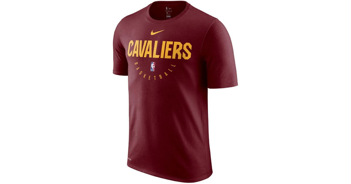 ece8077b65f0 ... coupon code for lyst nike cleveland cavaliers practice essential t shirt  in red for men 9d768