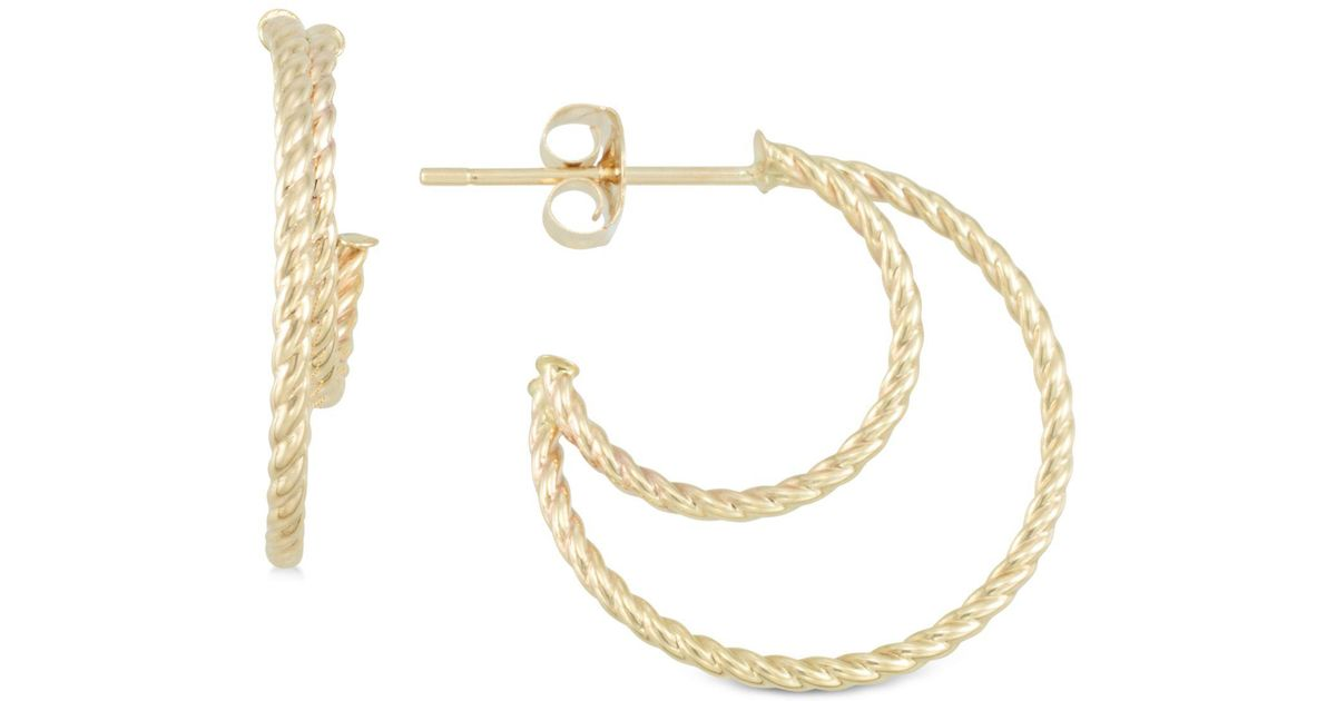 knot trinity product earrings gold
