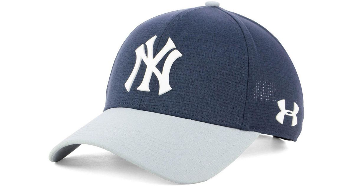 82f15700 netherlands lyst under armour new york yankees driver cap in blue for men  c8b2d 279ab