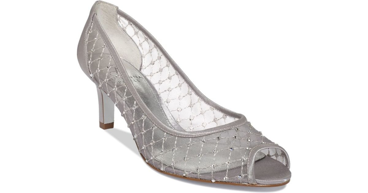 Silver Evening Shoes On Sale