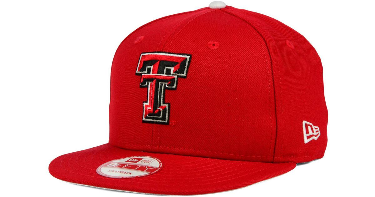 official photos 32ae8 bc2c8 ... new zealand lyst ktz texas tech red raiders core 9fifty snapback cap in  red for men