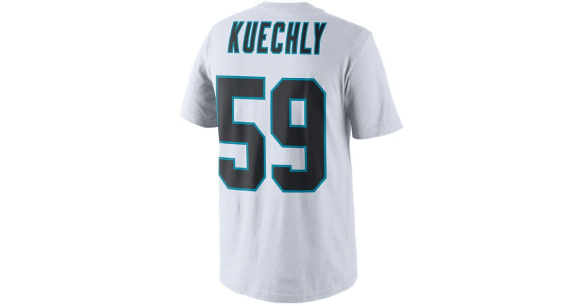 d33c7fde4ef ... coupon lyst nike mens luke kuechly carolina panthers pride name and  number t shirt in white