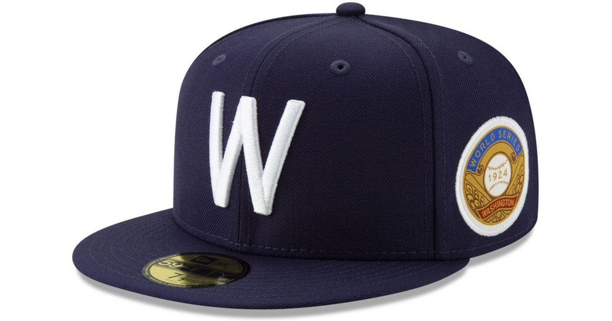 reputable site cbabc d171a Lyst - KTZ Washington Senators World Series Patch 59fifty Cap in Blue for  Men