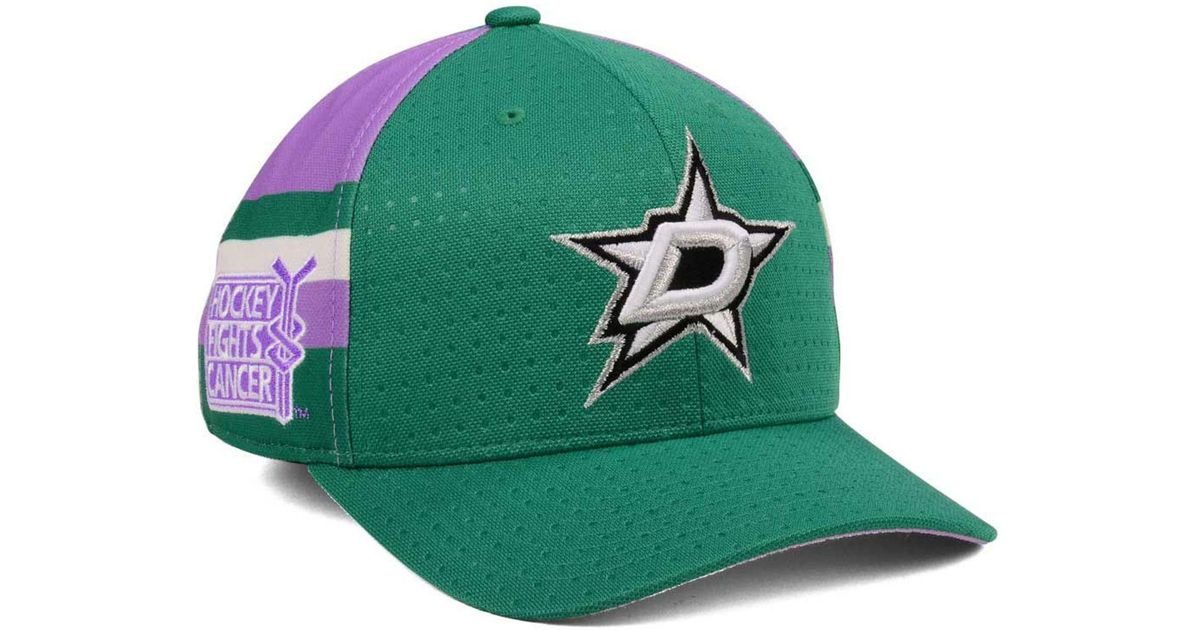purchase cheap 634b1 85367 Lyst - adidas Hockey Fights Cancer Stretch Cap in Green for Men