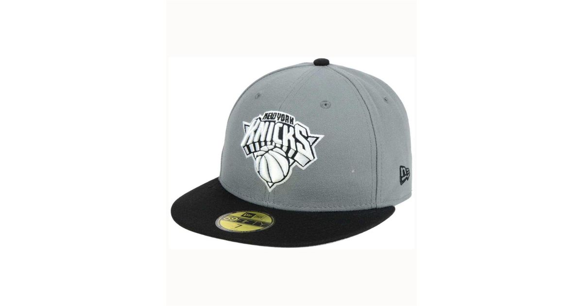 timeless design f4126 55ca6 Lyst - KTZ New York Knicks 2-tone Gray Black 59fifty Cap in Black for Men