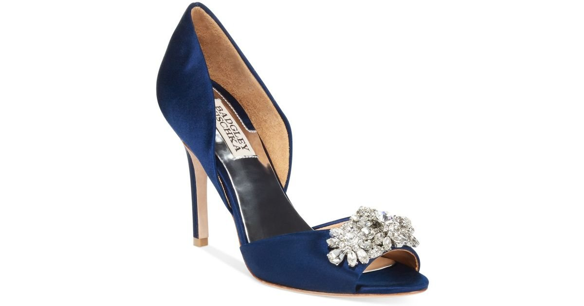 Badgley Mischka Navy Blue Shoes On Sale