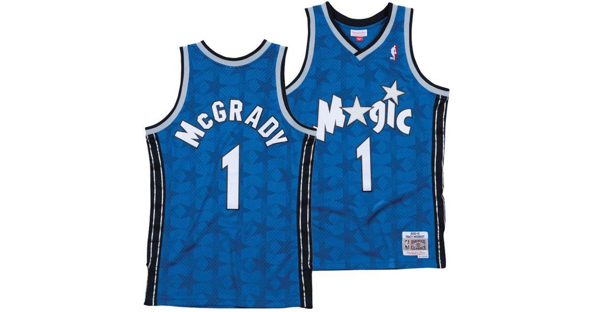 0fcdaaaee5d Mitchell & Ness Tracy Mcgrady Orlando Magic Hardwood Classic Swingman Jersey  in Blue for Men - Lyst