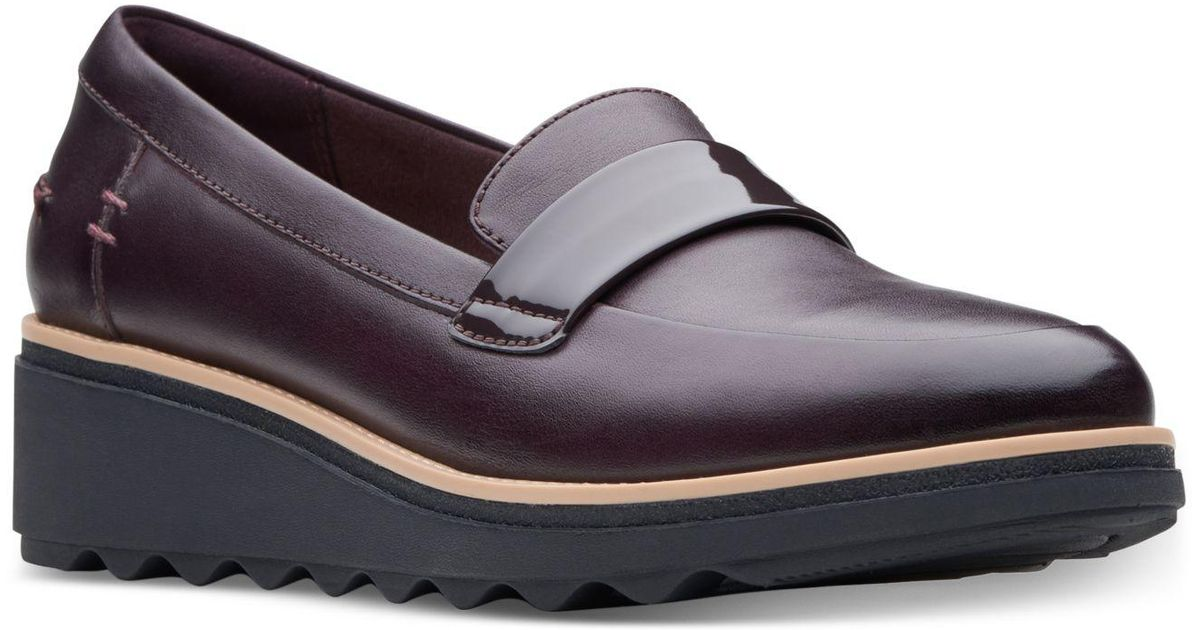 1d5fe332137f7 Lyst - Clarks Sharon Gracie Platform Loafers