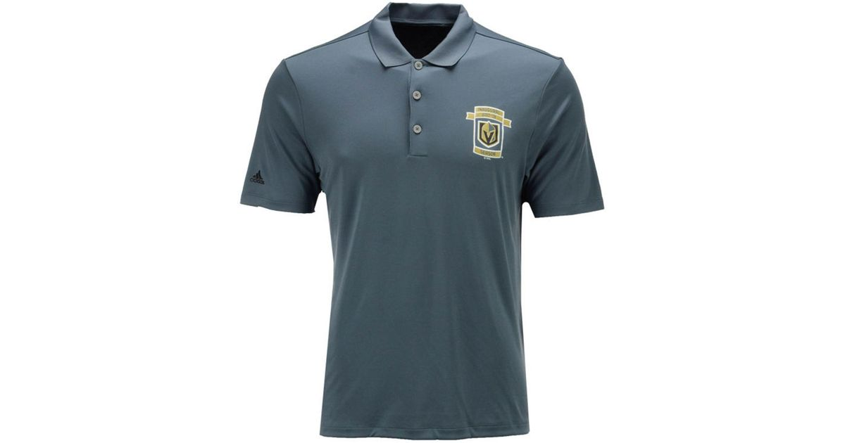 cheap for discount 00c3d 20a3a Adidas - Blue Vegas Golden Knights Inaugural Season Performance Polo for  Men - Lyst