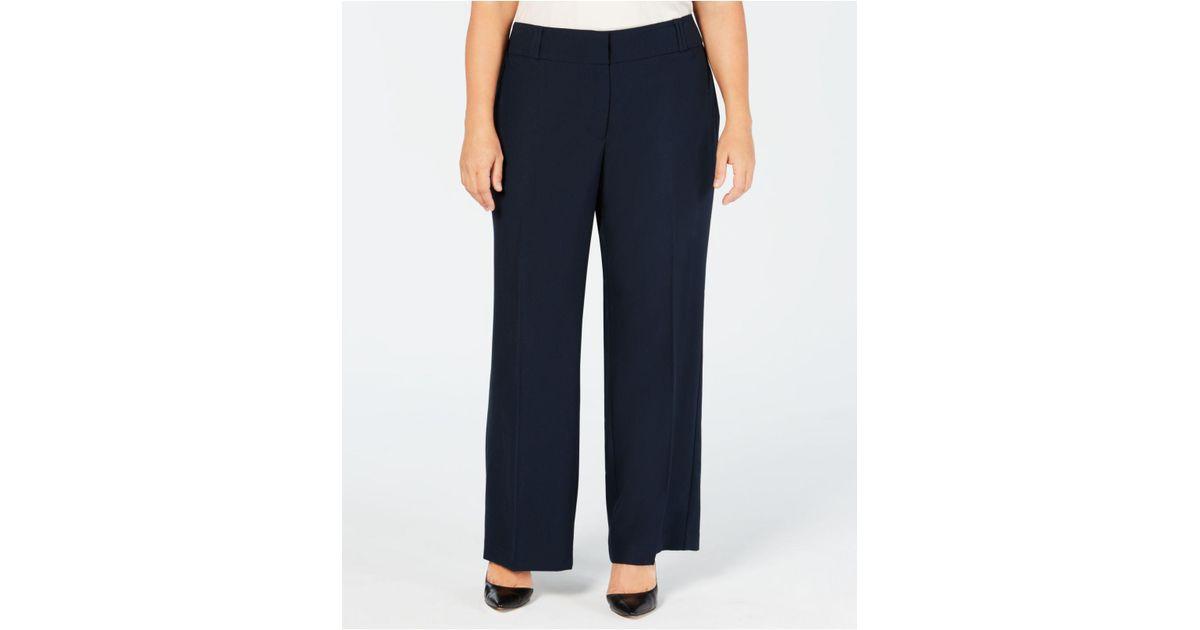 c8a3f81791b Lyst - Alfani Plus Size Straight-leg Trousers