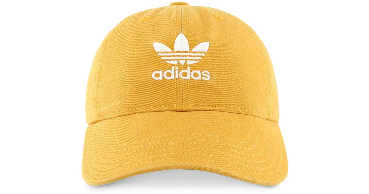 Lyst - adidas Originals Cotton Relaxed Cap in Yellow for Men 9ee2cdac2e5