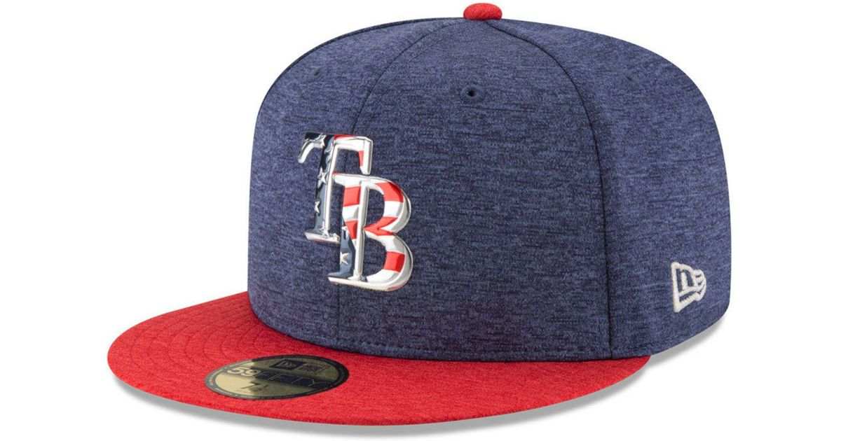 9a715ccdc72 Lyst - KTZ Tampa Bay Rays Authentic Collection Stars   Stripes 59fifty Cap  in Blue for Men
