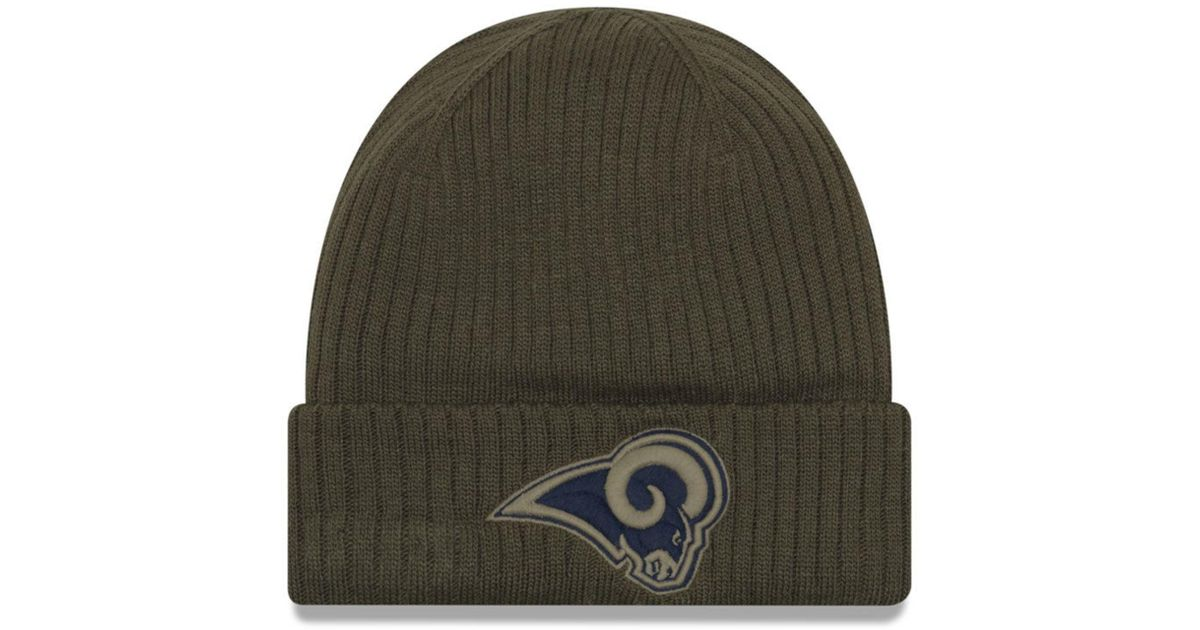 finest selection 1685f e3a50 Lyst - Ktz Los Angeles Rams Salute To Service Cuff Knit Hat in Green for Men