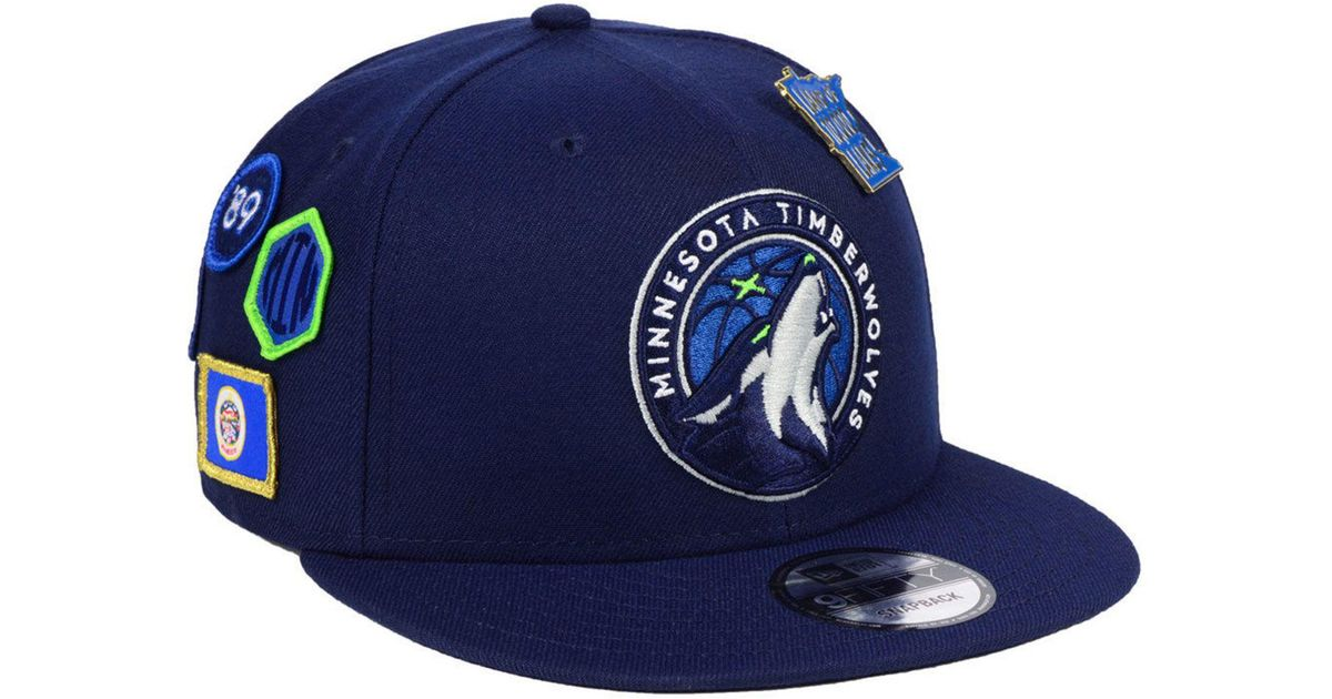 quality design 4f6c6 08ca0 Lyst - KTZ Minnesota Timberwolves On-court Collection 9fifty Snapback Cap  in Blue for Men