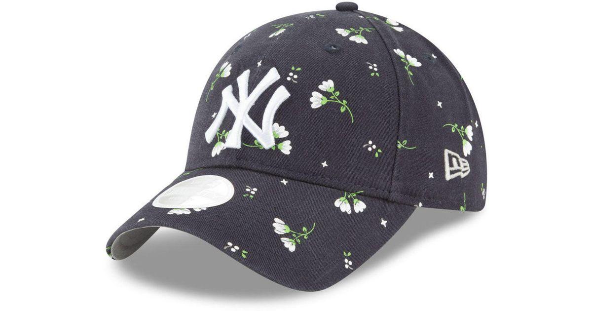 the latest ed2a4 e85e1 ... denmark lyst ktz new york yankees blossom 9twenty cap in blue 12b44  1f590
