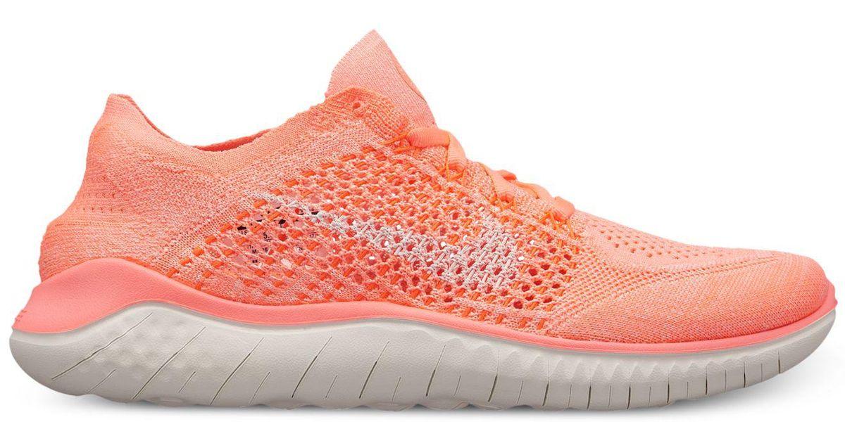 c4f485ddba648 Nike Free Rn Flyknit (crimson Pulse/sail/hyper Crimson) Shoes in Pink -  Save 57% - Lyst
