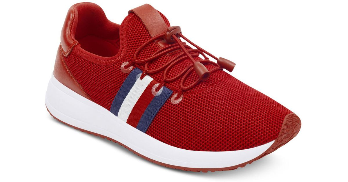 f14ef4e0e39f Lyst - Tommy Hilfiger Rhena Sneakers in Red