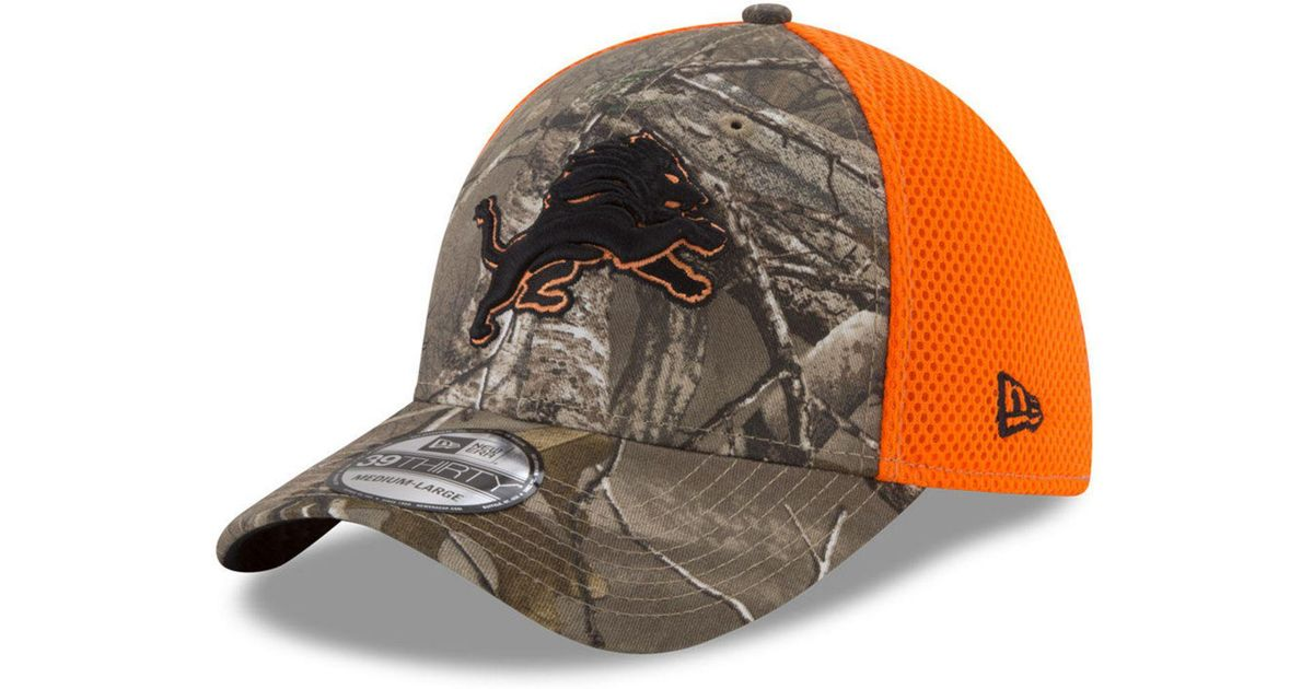 competitive price f646d 50090 Lyst - KTZ Detroit Lions Realtree Hunter Neo 39thirty Cap for Men