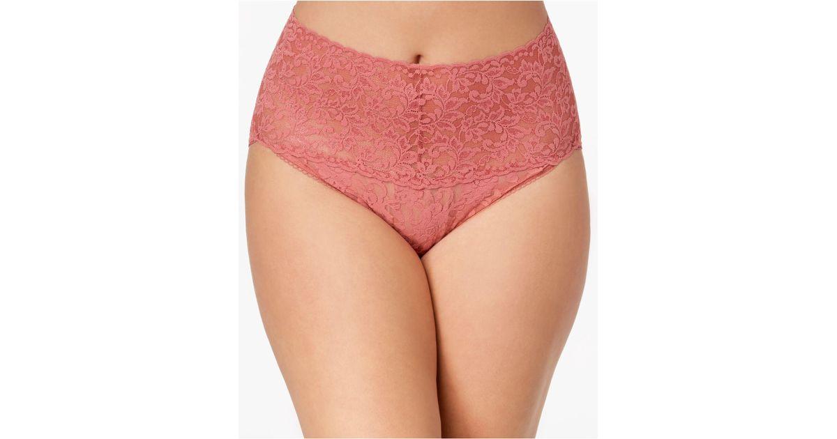 f90612a41a1e9 Lyst - Hanky Panky Plus Size Signature Lace Retro Vikini 9k2124x in Pink