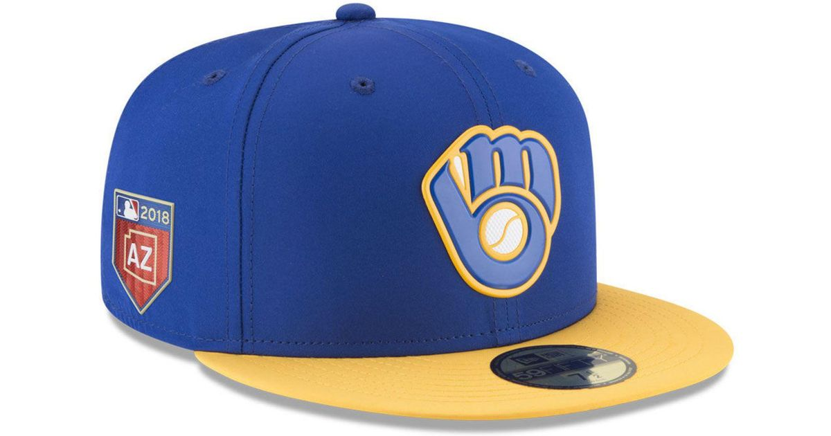 8c655e76256795 Lyst - KTZ Milwaukee Brewers Spring Training Pro Light 59fifty Fitted Cap  in Blue for Men