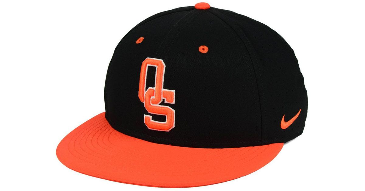 designer fashion 243a1 19029 ... new zealand lyst nike oklahoma state cowboys aerobill true fitted  baseball cap in black for men