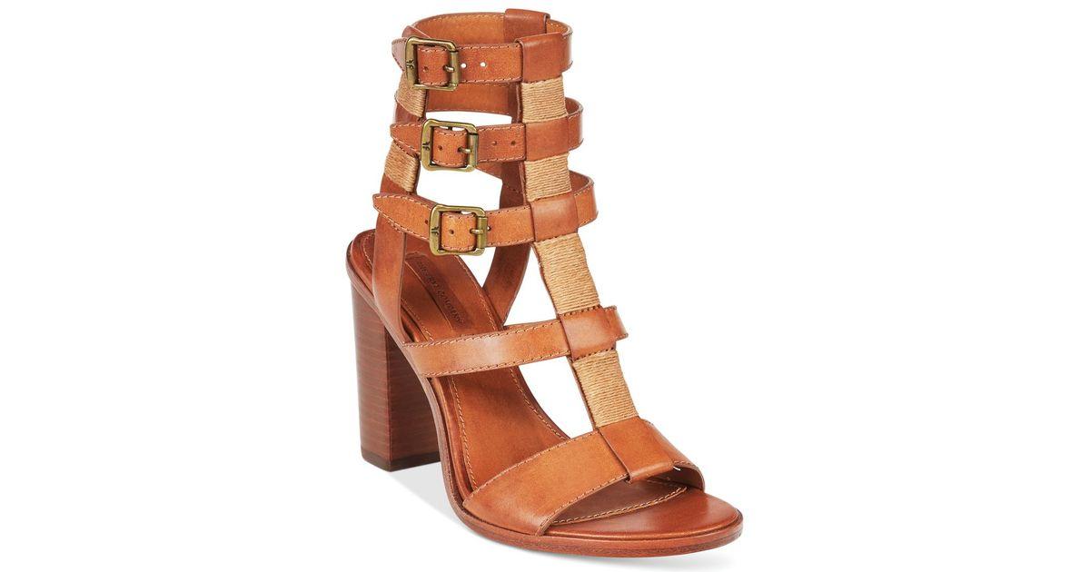 e5853a7f31b9 Lyst - Frye Women s Suzie Gladiator Sandals in Brown
