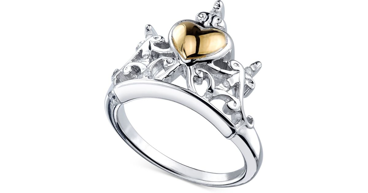 Diamond Accent Tiara Ring In Sterling Silver