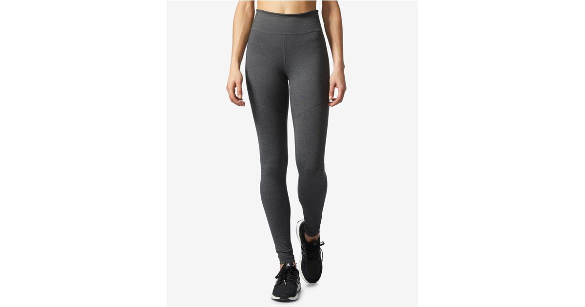 82d52a9d8207b adidas Climalite® High-rise Compression Leggings in Gray - Lyst